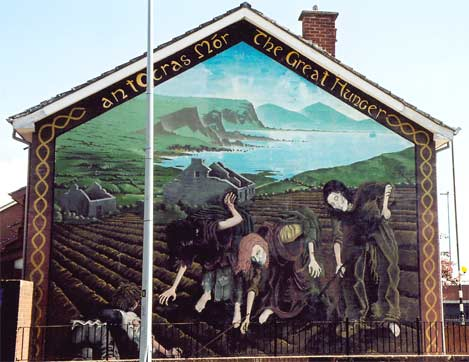 Street art image heavy for Mural irlande